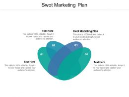 Swot Marketing Plan Ppt Powerpoint Presentation Gallery Elements Cpb