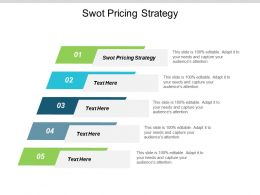 Swot Pricing Strategy Ppt Powerpoint Presentation Ideas Icon Cpb