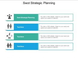 SWOT Strategic Planning Ppt Powerpoint Presentation Infographic Template Diagrams Cpb