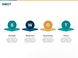 SWOT Strength Weakness L1346 Ppt Powerpoint Presentation Show Templates