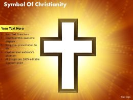 symbol of christianity powerpoint diagrams presentation slides graphics 0912