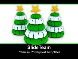 Symbolic Christmas Tree Made Of Cubes Holidays PowerPoint Templates PPT Themes And Graphics