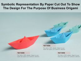Symbolic Representation By Paper Cut Out To Show The Design For The Purpose Of Business Origami