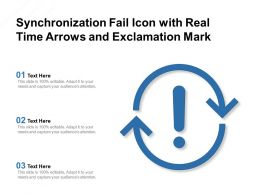 Synchronization Fail Icon With Real Time Arrows And Exclamation Mark