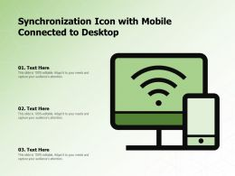 Synchronization Icon With Mobile Connected To Desktop