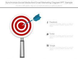 Synchronize Social Media And Email Marketing Diagram Ppt Sample