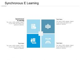 Synchronous E Learning Ppt Powerpoint Presentation Inspiration Elements Cpb