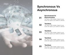 Synchronous Vs Asynchronous Ppt Powerpoint Presentation Inspiration Background Image Cpb