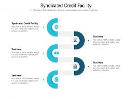 Syndicated Credit Facility Ppt Powerpoint Presentation Infographics Clipart Cpb