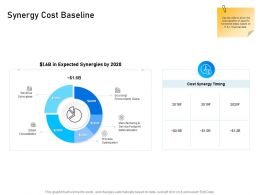 Synergy Cost Baseline Sourcing Procurement Ppt Powerpoint Presentation Infographics Example