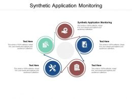 Synthetic Application Monitoring Ppt Powerpoint Presentation Ideas Portfolio Cpb