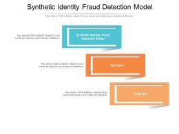 Synthetic Identity Fraud Detection Model Ppt Powerpoint Presentation Model Template Cpb