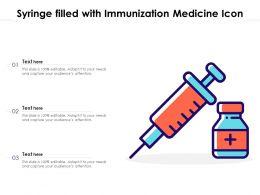 Syringe Filled With Immunization Medicine Icon