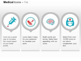 Syringe Germs Brain Nurse Ppt Icons Graphics