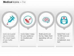 Syringe Germs Brain Nurse Ppt Icons Graphics