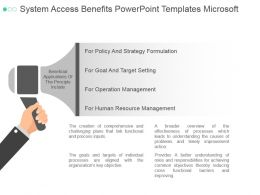 System Access Benefits Powerpoint Templates Microsoft