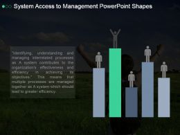 System Access To Management Powerpoint Shapes