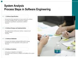 System Analysis Process Steps In Software Engineering