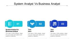 System Analyst Vs Business Analyst Ppt Powerpoint Presentation Pictures Sample Cpb