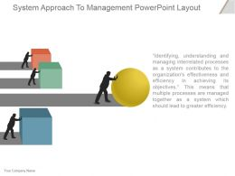 System Approach To Management Powerpoint Layout