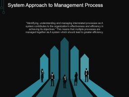 System Approach To Management Process Ppt Sample