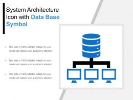 System Architecture Icon With Data Base Symbol