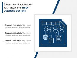 System Architecture Icon With Maze And Three Database Designs