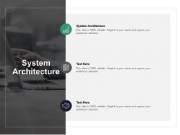 System Architecture Ppt Powerpoint Presentation Pictures Tips Cpb