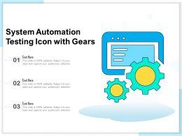 System Automation Testing Icon With Gears