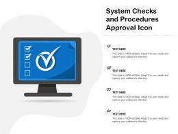 System Checks And Procedures Approval Icon