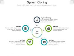 System Cloning Ppt Powerpoint Presentation Ideas Layout Ideas Cpb