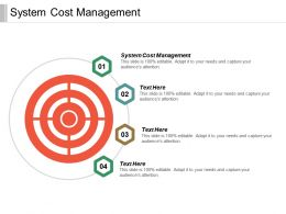 System Cost Management Ppt Powerpoint Presentation Gallery Inspiration Cpb