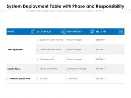 System Deployment Table With Phase And Responsibility