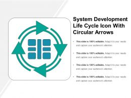 System Development Life Cycle Icon With Circular Arrows