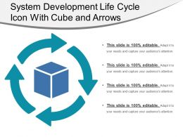 System Development Life Cycle Icon With Cube And Arrows