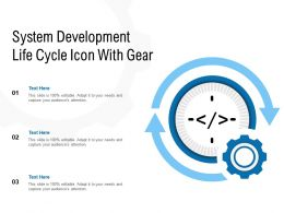 System Development Life Cycle Icon With Gear