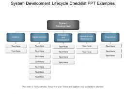 System Development Lifecycle Checklist Ppt Examples