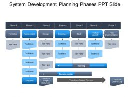 System Development Planning Phases Ppt Slide