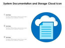 System Documentation And Storage Cloud Icon