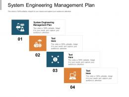 System Engineering Management Plan Ppt Powerpoint Presentation Model Cpb