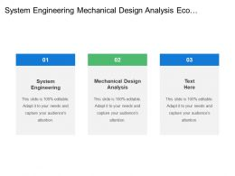System Engineering Mechanical Design Analysis Eco Implementation Manufacturing Support