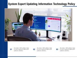 System Expert Updating Information Technology Policy