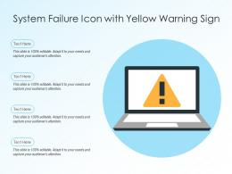 System Failure Icon With Yellow Warning Sign