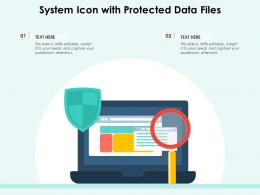 System Icon With Protected Data Files