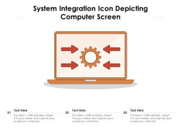 System Integration Icon Depicting Computer Screen