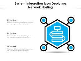 System Integration Icon Depicting Network Hosting