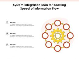 System Integration Icon For Boosting Speed Of Information Flow