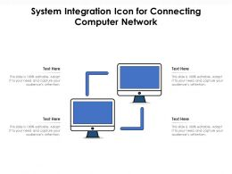System Integration Icon For Connecting Computer Network