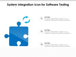 System Integration Icon For Software Testing