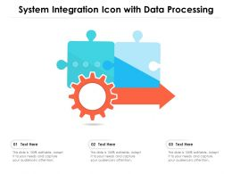 System Integration Icon With Data Processing
